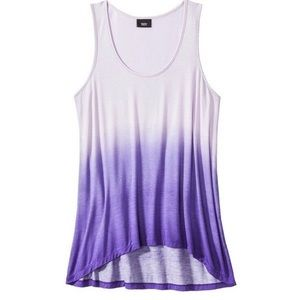 Mossimo Purple Ombré Dip Dyed Tank Top Size XL